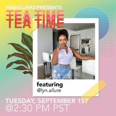 Graphic Tea Time with @lyn.allure Sept 1st